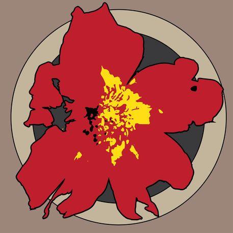 'Red Bloom' by Petros Vasiadis on artflakes.com as poster or art print $16.63