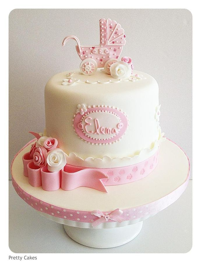 82 Best Baby Shower Cakes Girl Images On Pinterest Conch