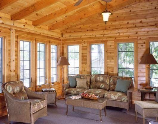 62 best sunrooms images on pinterest log houses slab for Windows for log homes