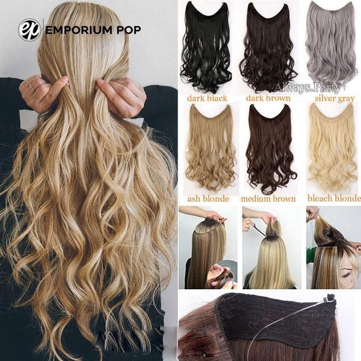 Invisible Halo Hair Extensions Curly Hair Styles Naturally Halo Hair Extensions Halo Hair