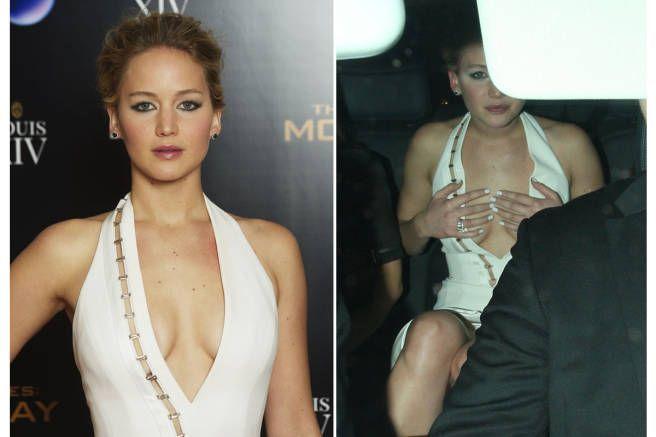 Jennifer Lawrence Laughs Off a Wardrobe Malfunction