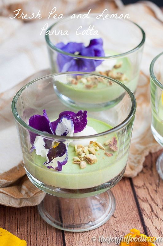 Fresh Pea And Lemon Panna Cotta With Toasted Pistachios