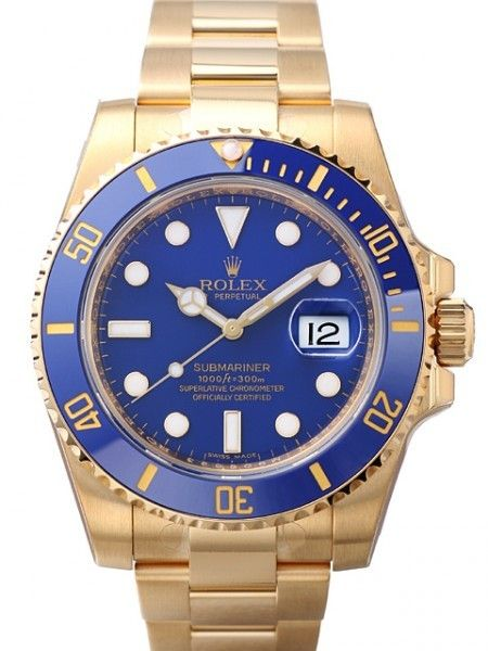 ZAEGER - Rolex Submariner Blue Index Dial 18k Yellow Gold 116618LB, (http://www.zaeger.com.au/all-watches/rolex-submariner-blue-index-dial-18k-yellow-gold-116618lb/)