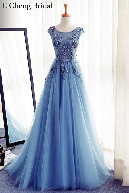Настоящее аватар дешевые аппликация кружева платья bridemaid длинные совок бальное платье для свадьбы платье халат журавль-красавка почетного легиона