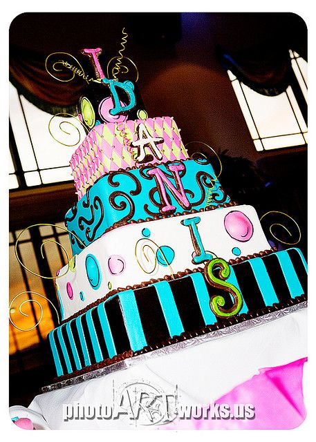 We ❤ Love this creatively fun Quinceanera cake  Photo Credit: Johnniekake, via Flickr #Quinceanera #Quinceaneracake