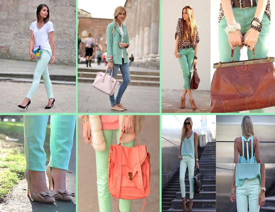 I went ahead w. the mint green trend