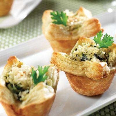 Spinach & Crab Artichoke Mini Tarts