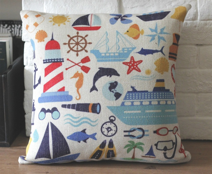 20 Best Images About Nautical Pillows On Pinterest Beach