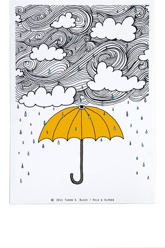 The Yellow Umbrella Illustration by Taren S by osloANDalfred,