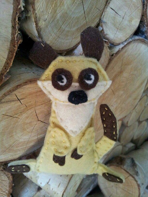 Timon the Meerkat - felt small toy | Crafty stuff | Craft