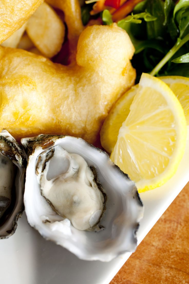 Oysters are sourced from Bruny Island's top Oyster growers, and shucked to order at Hotel Bruny