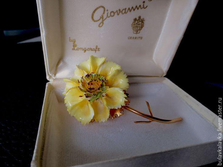 Купить Giovanni Винтажная брошь цветок - винтажная брошь, винтажная брошь цветок, винтажные броши