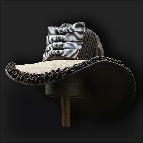 Fabulous 18th century hat - scroll down to Des Chapeaux