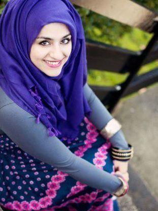 love this purple #hijab #hijabi #style #fashion