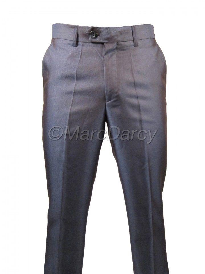 Mens Two tone Shiny Purple Plain Front Regular Fit Trousers