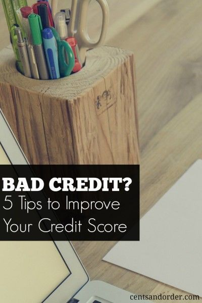 5 Tips To Repair A Bad Credit Score