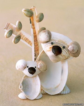 This adorable craft makes use of all those shells picked up on the beach.
