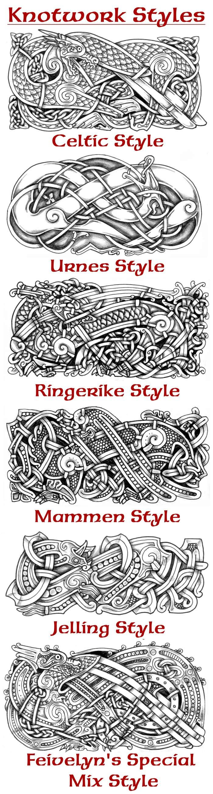 "Urnes style tutorial. Take a look at the other 3 tutorials for the general knotwork basics. see also: Mating urnes beasts, should I put on ""Mature Content""?"