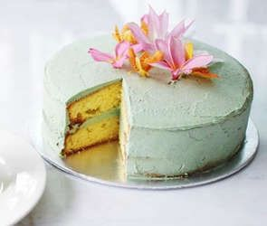 Vegan Layered Sponge Cake With The Essential Greens Frosting