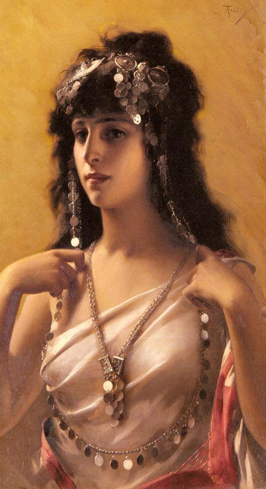 An Oriental Beauty - Luis Ricardo Falero (Spanish)