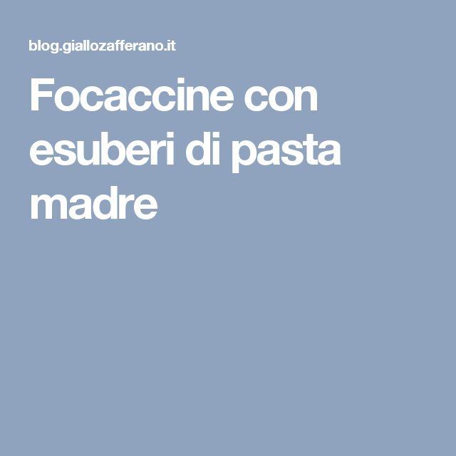 Focaccine con esuberi di pasta madre
