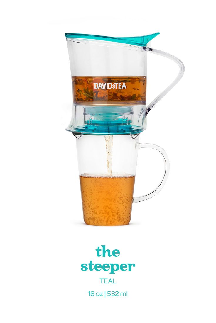 The easiest way to make tea. Just let it steep then sit it on top of your cup.