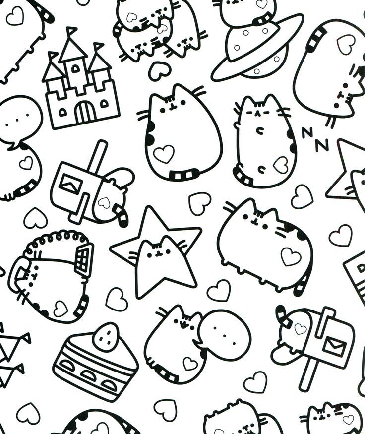 Coloring Rocks Pusheen Coloring Pages Cute Coloring Pages Cat Coloring Page