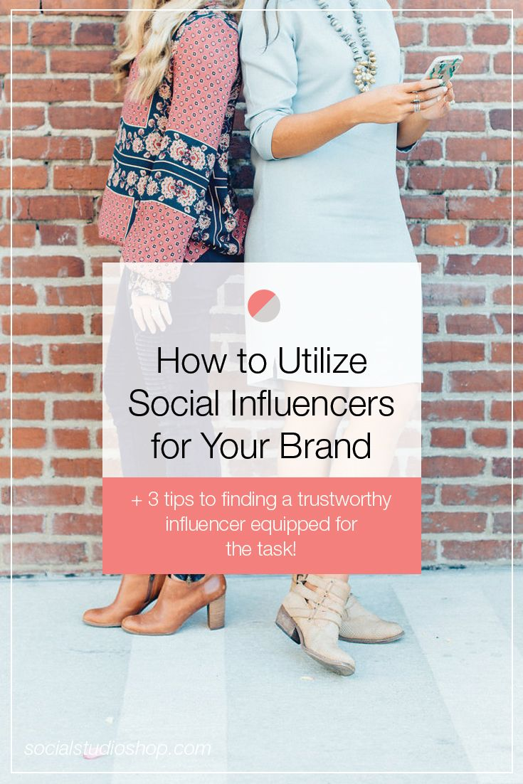 If you're thinking about bringing in some influencer marketing, be sure to read this post first! We're breaking down everything you need to know about social influencers, what they can do, and how to find the best ones for your business! // Social Studio Shop