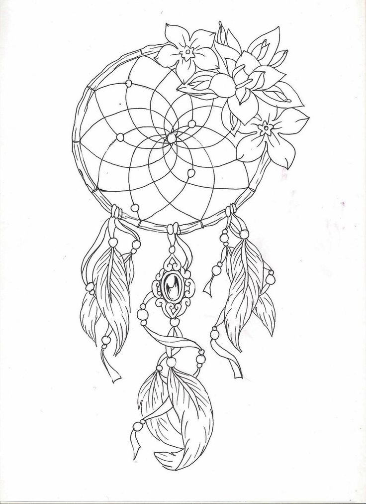 Dreamcatcher 2 by adler666 on deviantart inspired by my for Dreamcatcher tattoo template