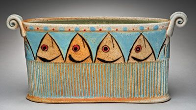 Kathy Phelps functional and decorative pottery at MudFire Gallery in Atlanta…
