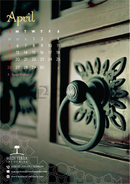 Our April 2015 calendar