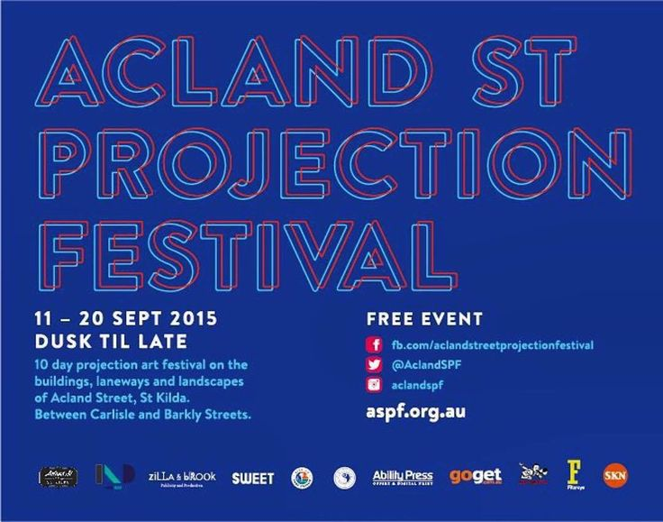 Acland Street Projection Festival