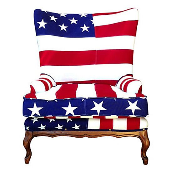 Good Love This Patchwork American Flag Chair   Vintage Quilted Flags   The  Ultimate In Americana