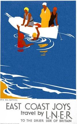 'East Coast Joys No 4 - Sea Bathing', LNER poster, 1931.