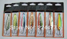 18 g / 11 cm cuillère appâts traîne appâts de pêche leurres métalliques pêche aux leurres de pêche chine crochet cuivre pur à polissage à la main(China (Mainland))