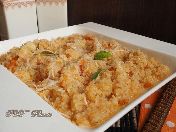 Ricette del Bulgur e cavolfiore nascosto.  #primopiatto #bulgur #cavolfiore #ricetta #recipe #italianfood #italianrecipe #PTTRicette