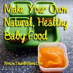 Yes, it takes more time to make baby food than to run to the store. So why do I do it? Economy and variety.
