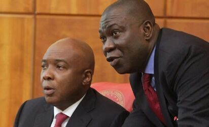Senate President Dr. Bukola Saraki yesterday blamed his colleagues in All Progressives Congress APC for the emergence of Ike Ekweremadu as his deputy despite being a member of the opposition Peoples Democratic Party PDP.  He also denied going into an alliance with the PDP to become Senate President.  Reacting to a Twitter users accusation that his action truncated APCs mandate Saraki said: I did not do any deal with PDP. I did not have to because even before they took a group decision 22 of…