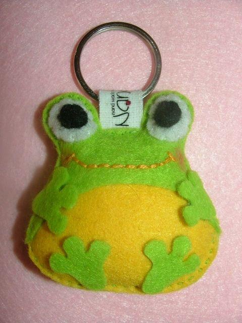 frog felt keychain