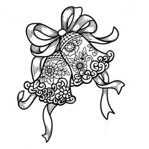 Wedding bells coloring pages ~ T T wedding bells | PERGAMANO | Christmas coloring pages ...