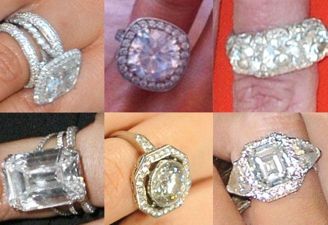30 Celebrity Engagement Rings: Jennifer Aniston, Kate Middleton, Angelina Jolie & More | BrideChores