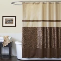 Lush Decor Crocodile Brown Shower Curtain | Overstock.com Shopping - Great Deals on Lush Decor Shower Curtains