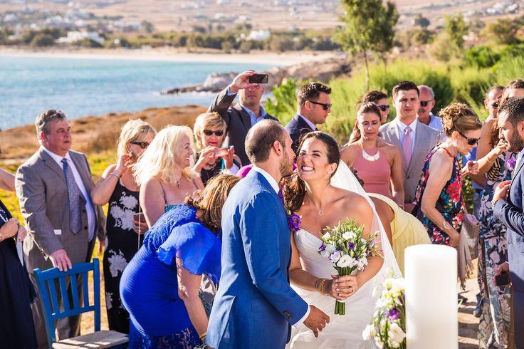 orthodox ceremony wedding paros greece seaside church golden beach
