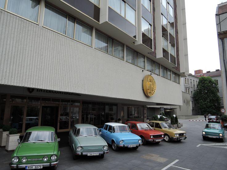 Skoda 100 in front of Intercontinental Prague