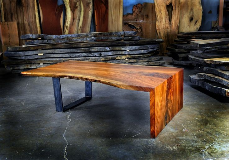 Live Edge Table Walnut Coffee Table by Greenwoodbay on Etsy