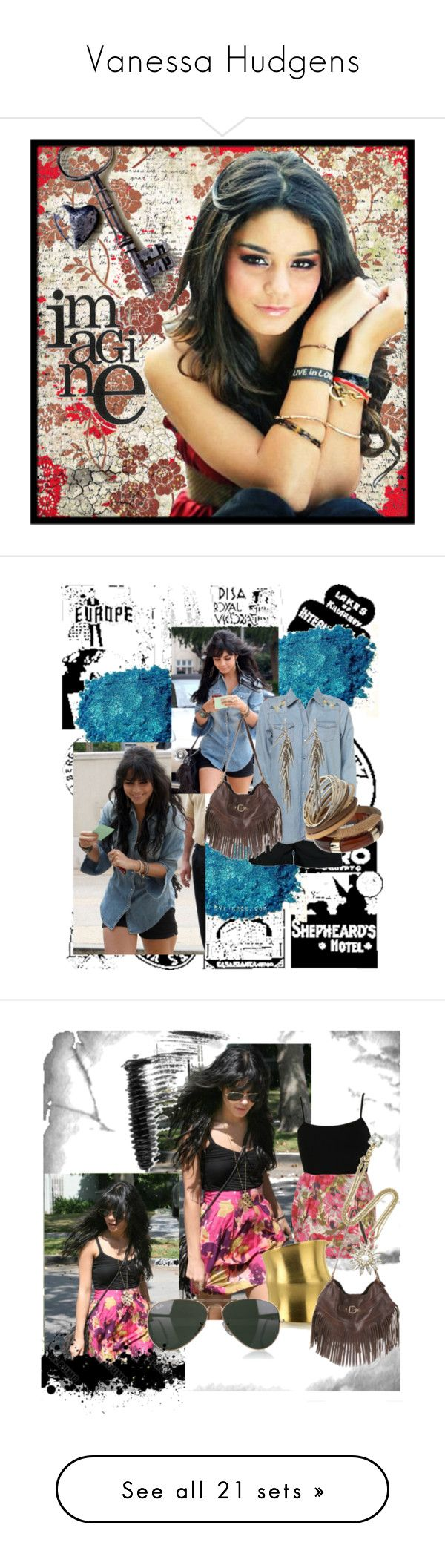 """""""Vanessa Hudgens"""" by slhomzi ❤ liked on Polyvore featuring art, vanessa hudgens, baby v, high school musical, band slam, zac efron, ashley tisdale, suite life of zack and cody, J.J. Winters and Ben-Amun"""