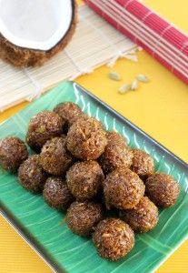 coconut ladoo recipe with jaggery | kobbari louz recipe