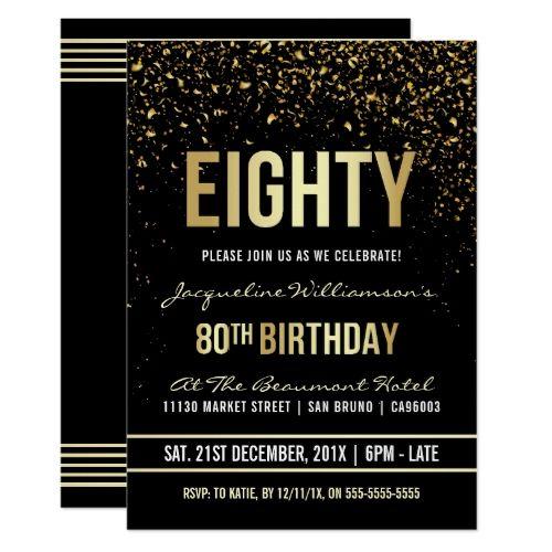 80th Birthday Decoration