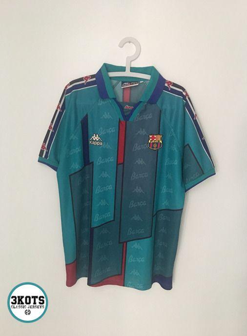 3f7910cd6ce BARCELONA FC 1995-97 Away Football Shirt (XL) Soccer Jersey KAPPA Vintage  Maglia  Kappa  Jerseys  BarcelonaFC  Footballshirts