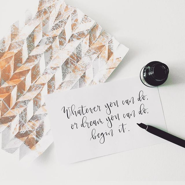 """""""»Whatever you can do, or dream you can do, begin it!«— W.H. Murray (in reference to Goethe)"""" #motivation #zitat #inspiration #structure #design #pattern #creative #falttechnik #paper #liebezumdetail #designer #designstudio #caleyadesign"""